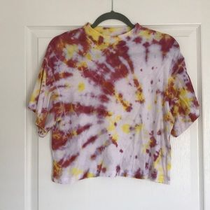 Free people tie dye crop top